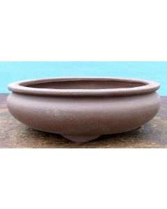 "Bonsai Basics - Oval Unglazed Bonsai Pot - 7"" - Being hand made basic quality some finish, colour and size variations, minor distortions and marks can occur."