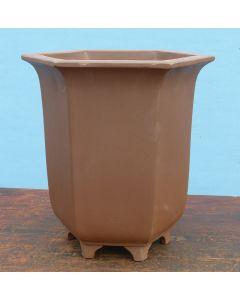 "Cascade Style Deep Unglazed Bonsai Pot - 9"""