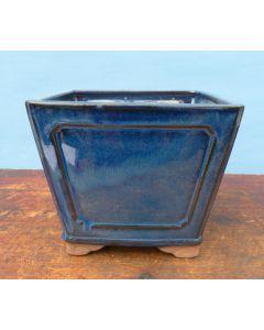 "*See notes in main description regarding the colour of this pot. Blue Glazed Deep Square Bonsai Pot - 8"""