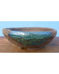 Japanese Nanban Round Rustic Handmade Bonsai Pot