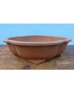 "Bonsai Basics - Oval Unglazed Bonsai Pot - 10"""