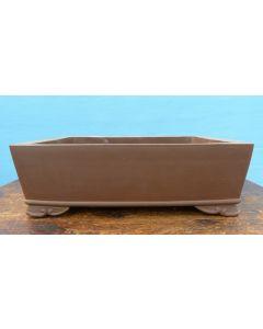 "Unglazed Rectangular Bonsai Pot 12"""