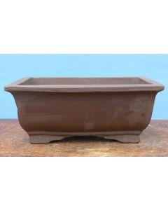 "Bonsai Basics - Heavy Rectangular Unglazed Bonsai Pot - 13"""