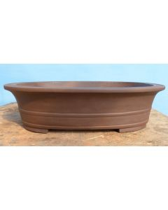 Large Oval Unglazed Bonsai Pot - 22""
