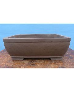 "Bonsai Basics - Rectangular Unglazed Bonsai Pot - 12"""