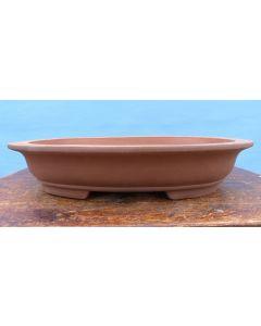 "Oval Bonsai Pot - Unglazed Stoneware - 18"""