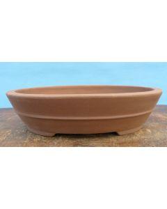 "Bonsai Basics - Oval Unglazed Bonsai Pot - 12"""
