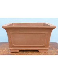 "Unglazed Deep Square Bonsai Pot 15"""