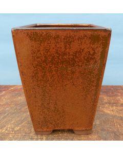 "Copper Glazed Cascade Style Bonsai Pot - 7"""
