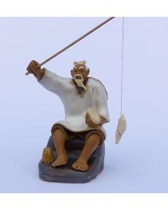 Fisherman - Traditional Chinese Shiwan Figure