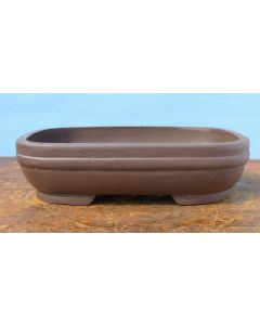 Bonsai Basics - Rectangular Unglazed Bonsai Pot - 6.5""