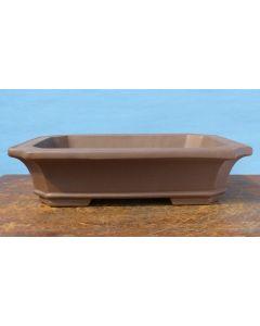 "Unglazed Rectangular Quality Bonsai Pot - 14"""