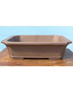 Japanese Komagome Unglazed Rectangular Bonsai Pot - 18""