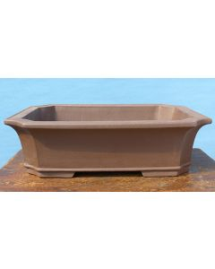 "Japanese Komagome Unglazed Rectangular Bonsai Pot - 20"""