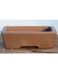 "Bonsai Basics - Rectangle Unglazed Bonsai Pot - 8"""