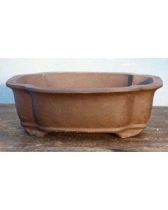 "Bonsai Basics - Rectangular Unglazed Bonsai Pot - 8"""