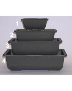 Grey Rectangle Plastic Training Pot 153x105x60mm