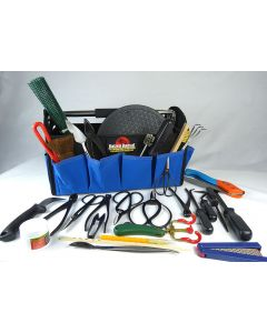 31 Piece Bonsai Tool Kit with hard based tool tote