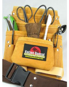 10 Piece Bonsai Tool Kit & Suede Leather Tool Belt