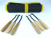 6 Piece Bonsai and Wood Carving Gouges Set