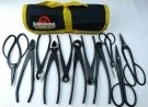 Bonsai Tool Kit - 11 Piece Set of Black Carbon Steel Tools
