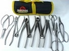 Bonsai Tool Kit - 11 Piece Set of Stainless Steel Tools