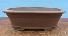 Heavy Rectangular Unglazed Bonsai Pot